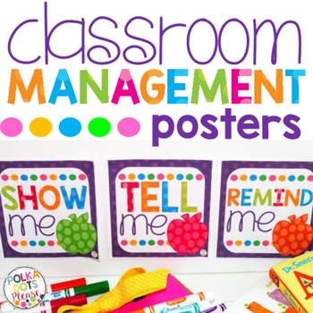 Classroom Management Posters for Teachers