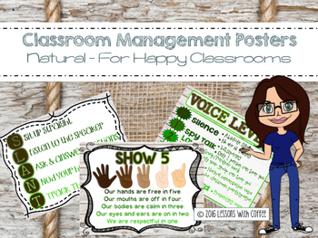 Classroom Management Posters for the Classroom (Shiplap and Burlap)