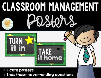 Classroom Management Posters to Answer Kids' Never-Ending