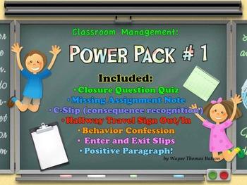 Classroom Management: Power Pack #1