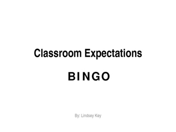 Classroom Management Presentation and BINGO Game (EDITABLE)