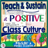 Classroom Management Middle & High School: Mini-Unit Positive Class Culture