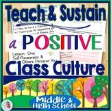Classroom Management Middle & High School: Mini-Unit Positive Class Culture