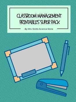 Classroom Management Printables Super Pack