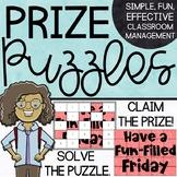 Prize Puzzles   Whole Class Behavior Management