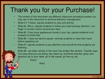 Classroom Management Procedure Posters for Primary School Age Children