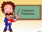 Classroom Management Procedure Posters for Primary School