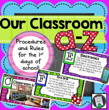 Classroom Management & Procedures Powerpoint * Our Classroom A-Z