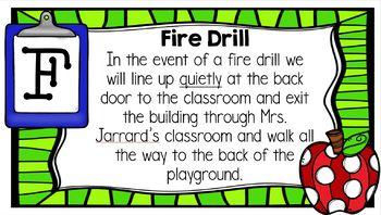 Classroom Management & Procedures Powerpoint * Our Classroom A-Z