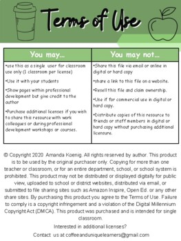Classroom Management Punch Card Freebie