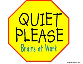 classroom management quiet zone signs reading stop signs tpt