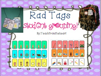 Classroom Management Rad Tags (Student Grouping Edition)