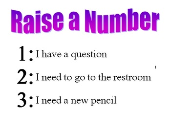 Classroom Management - Raise a Number