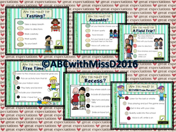 Classroom Management- Reinforce Expectations with Self-Check Posters