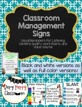 Classroom Management Reminder Signs