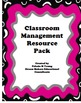 Classroom Management Resource Pack