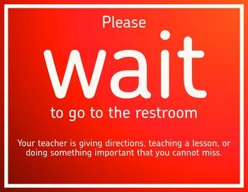 Classroom Management: Restroom Stop/Go Sign