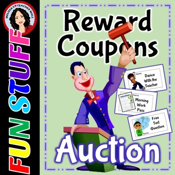 Classroom Management Reward Coupons Auction
