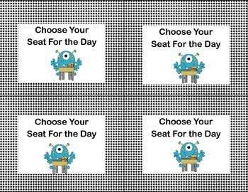 Classroom Management Reward Coupons-Silly Monster Theme
