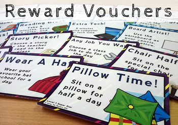 Classroom Management: Reward Vouchers