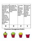 Classroom Management Rubric