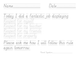 Classroom Management Rule Following Tracing Pages for Primary Students