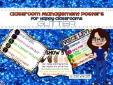Classroom Management Rules Posters (Glitter)