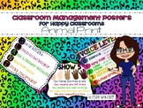 Classroom Management Rules Posters (Rainbow Animal Print Theme)