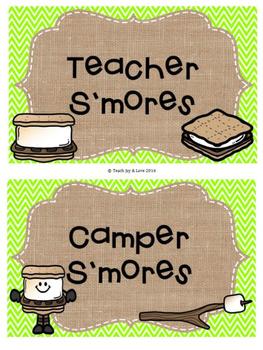 Classroom Management S'mores {Camping, Burlap, Chevron}