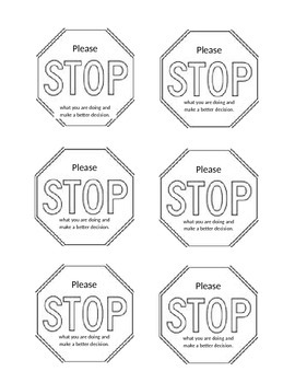 Classroom Management STOP Card
