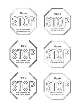 Classroom Management STOP Card