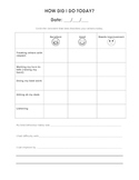 Classroom Management - Self Evaluation Forms