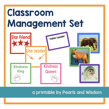 Classroom Management Set: Jobs, Tables, Lines, and Hand-washing