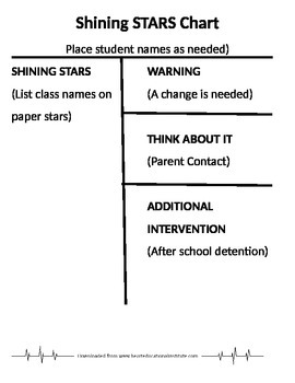 Classroom Management Shining Stars