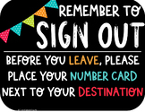 Classroom Management Sign Out (Black/Color)