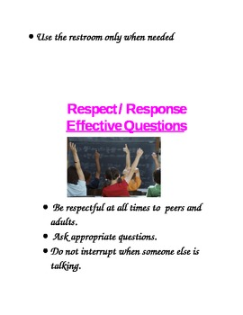 Classroom Management Signs