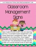 Classroom Management Signs -For Lessons and Beginning of the Year