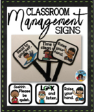 Classroom Management Signs Set {Black Frame}