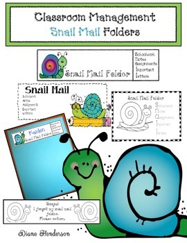 """Classroom Management: """"Snail Mail"""" Take Home Folders"""