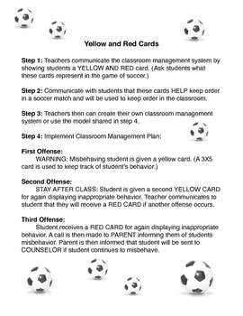 Classroom Management Soccer Style