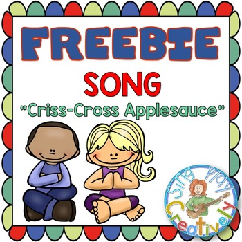 "Song for Classroom Management: ""Criss-Cross Applesauce"" Mp3"
