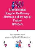 Growth Mindset Songs for Classroom Management and Positive Behaviors