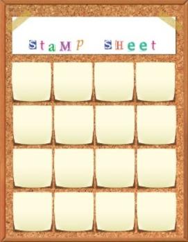 Reward System - Classroom Management -Stamp Sheet