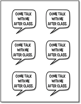 Classroom Management Sticky Notes