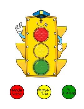 Classroom Management Stoplight - Inside Voice, Whisper Talk, No Talking