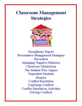 Classroom Management Strategies - Ideas and Suggestions