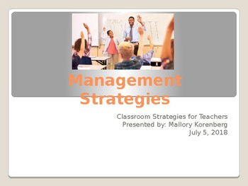 Classroom Management Strategies Powerpoint