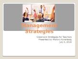Classroom Management Strategies Powerpoint