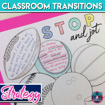 Classroom Management Strategy: Classroom Transitions Activity for Middle or High