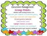Classroom Management Strategy - Group Points - Team Work